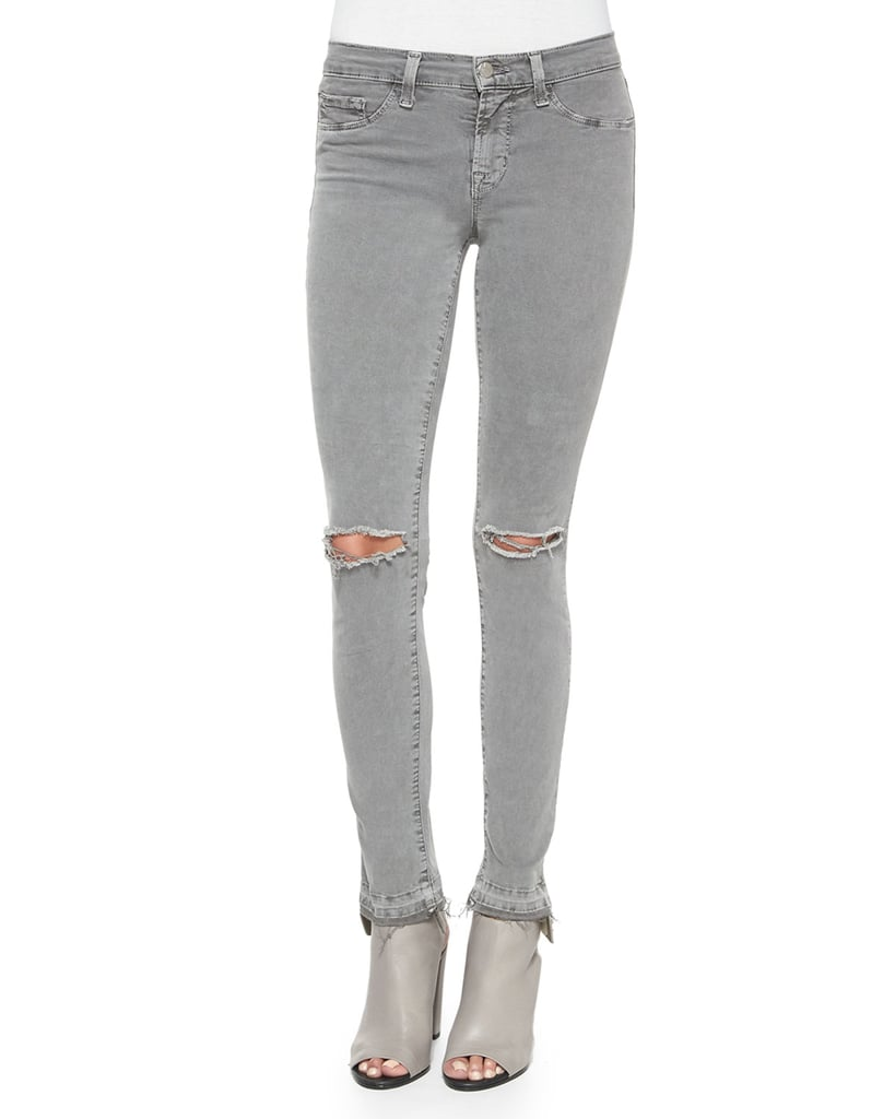 J Brand Jeans Mid-Rise Skinny Jeans, Silver Fox ($188)