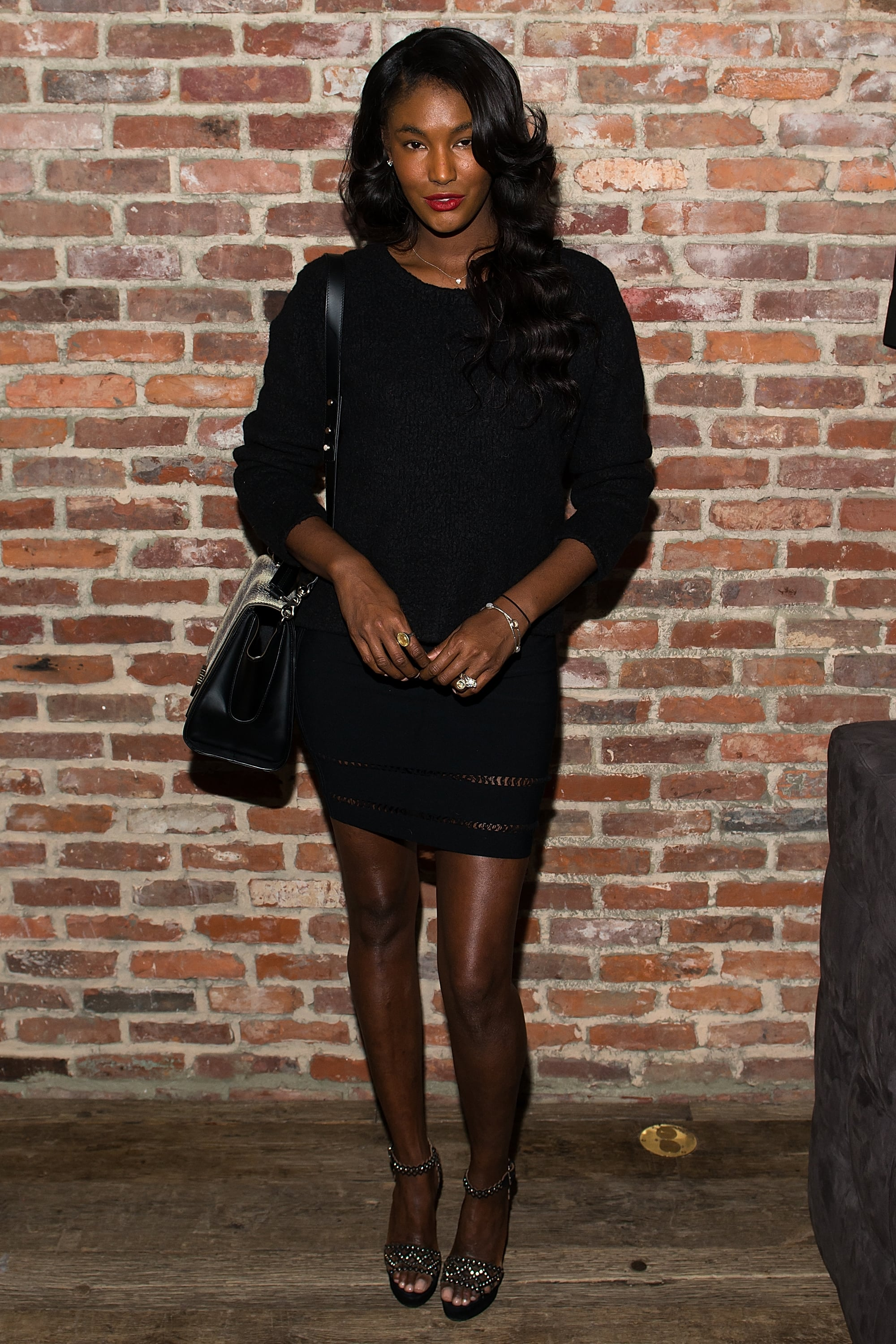 Sessilee Lopez at Modelinia's pre-Fashion Week dinner in New York.
