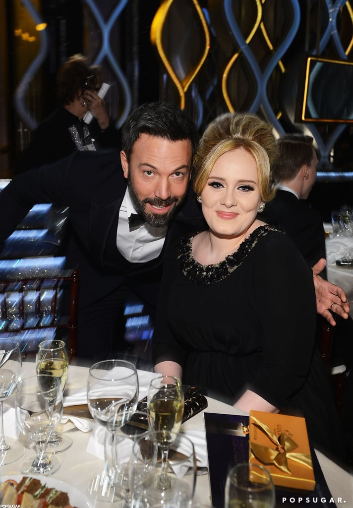 Ben Affleck posed with Golden Globes first-timer Adele inside the show.