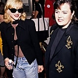 With pal Rosie O'Donnell in 1992.