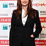 Penelope Cruz was in high spirits for the Rome Film Festival photocall.