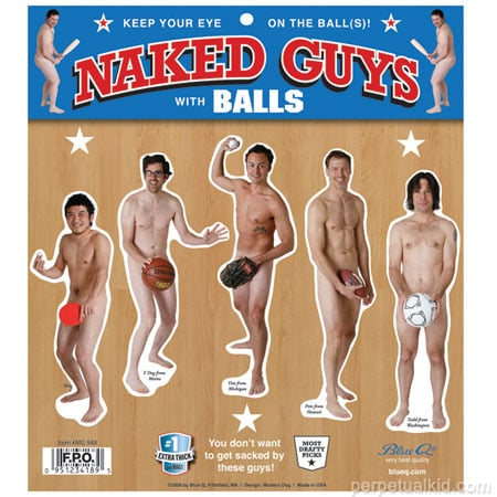 Product of the Day: Naked Guys With Balls Magnet Set