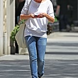 Cameron Diaz was preoccupied with her phone while on the streets of NYC.