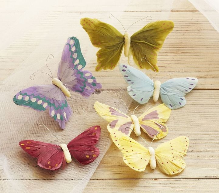 Pottery Barn Kids Feather Butterfly Clip-Ons