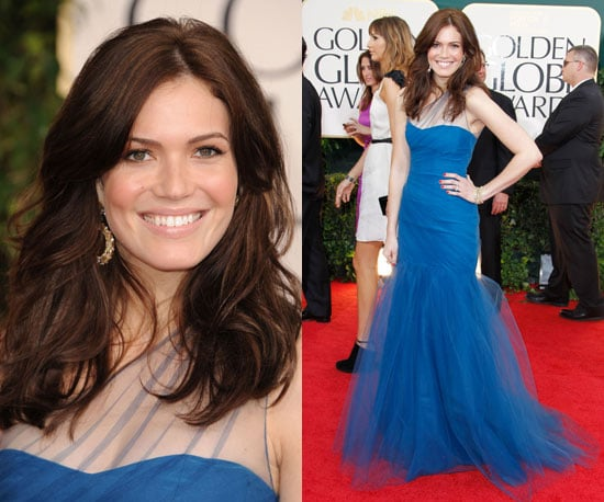 Mandy Moore in princess tulled blue at 2011 Golden Globe Awards