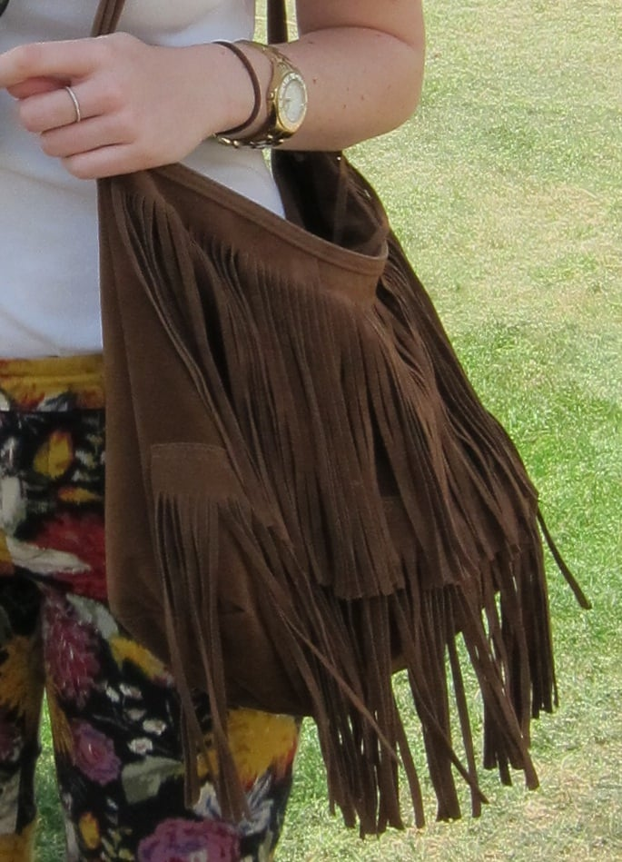 A fringed bag lends that bohemian vibe that's perfect for festival season.