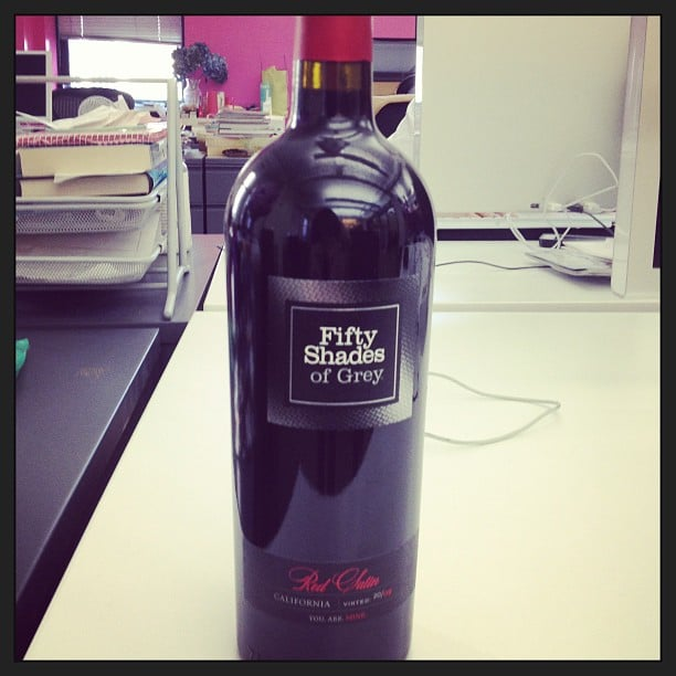 There's nothing quite as sultry as a bottle of Fifty Shades of Grey red wine.