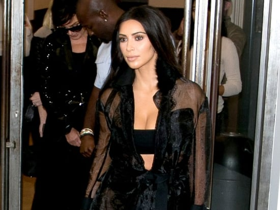 Kim Kardashian Bares Her Underboob in the Name of Paris Fashion Week (Warning: Pic Is NSFW)