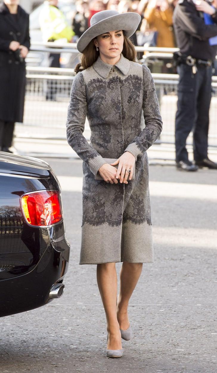 Kate Middleton Wearing An Erdem Coat Popsugar Fashion Photo 5