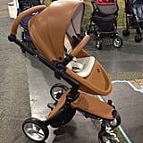 Mima made its US debut with the beautiful Xari pushchair. The faux-leather-covered stroller is quite the stunner.