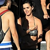 Katy Perry met up with her friends at the water park in LA.