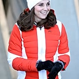 Kate Middleton's Red and White Coat in Norway