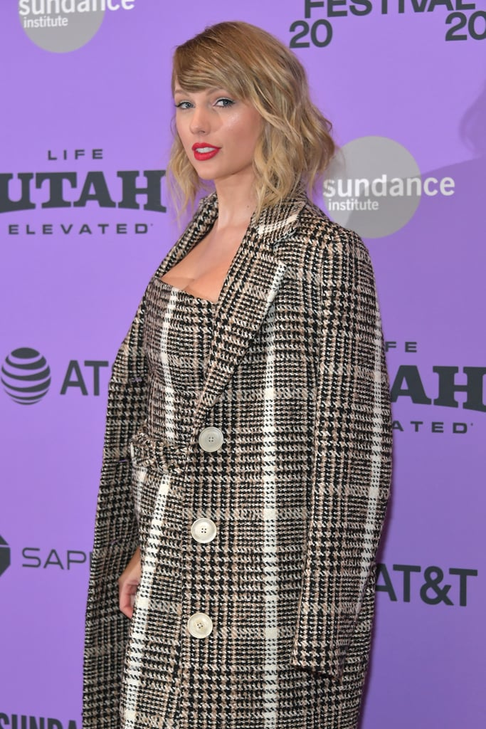 "Taylor Swift stepped out in style for the premiere of her Netflix documentary, Miss Americana, at the Sundance Film Festival on Thursday night. Dressed in a plaid jumpsuit and matching coat, the 30-year-old singer looked ready for business as she posed for photos.  Miss Americana will give fans a glimpse into Taylor's personal life, as well as show viewers how she came to find her political voice over the past few years. ""Throughout my whole career, label executives would just say, 'A nice girl doesn't force their opinions on people. A nice girl smiles and waves and says, 'Thank you,'"" Taylor says in the trailer. ""I feel really good about not feeling muzzled anymore.""  Taylor's Sundance appearance comes just days after she disclosed to Variety that her mom, Andrea Swift, was recently diagnosed with a brain tumor amid her battle with cancer, which began in 2015. ""The symptoms of what a person goes through when they have a brain tumor is nothing like what we've ever been through with her cancer before. So it's just been a really hard time for us as a family,"" Taylor said. ""Everyone loves their mom; everyone's got an important mom, but for me, she's really the guiding force.""  See more of Taylor's night ahead and make sure to check out Miss Americana when it hits Netflix on Jan. 31.      Related:                                                                                                           120 Sexy Taylor Swift Pics That Will Convert Just About Anyone Into a Swiftie"