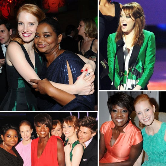 Emma, Viola, Octavia, and Jessica's Best 2012 Award Season Moments So Far