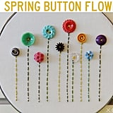 Button Embroidery-Hoop Art
