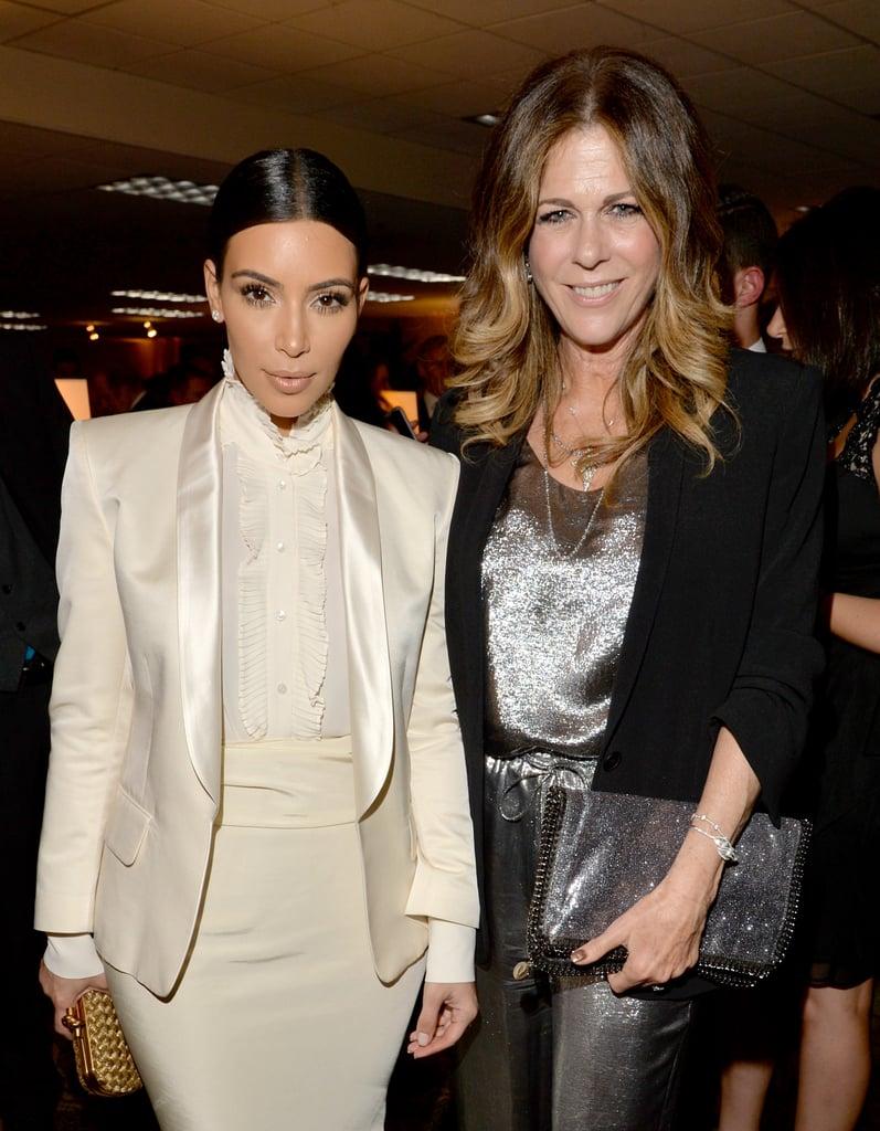 Kim Kardashian met with Rita Wilson.
