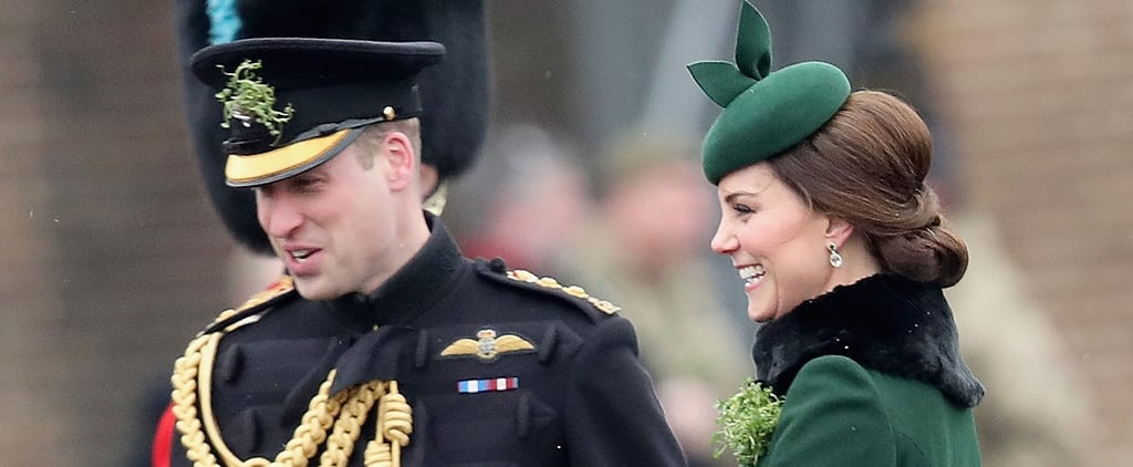 Kate Middleton Flaunts Her Growing Baby Bump at the Irish Guards St. Patrick's Day Parade