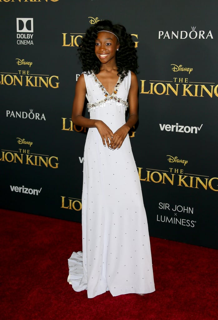 Pictured: Shahadi Wright Joseph at The Lion King premiere in Hollywood.
