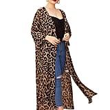 Shein Leopard Sheer Split Side Kimono