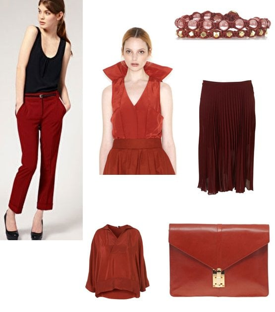 Rust Red, Our Colour Crush of 2011. Shop The Trend Online Now!