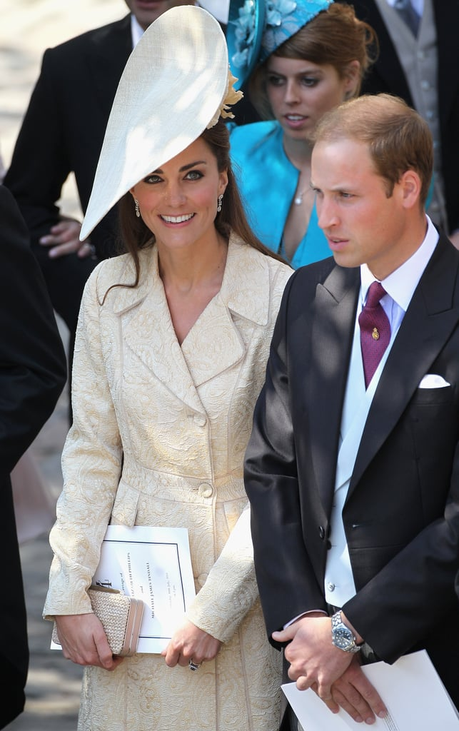 Kate Middleton put her best hat forward with Prince William at Zara Phillips and Mike Tindall's wedding in Edinburgh, Scotland, in July 2011.