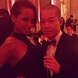 Alicia Keys partied inside the event with her designer date, Jason Wu. Source: Instagram user jasonwustudio