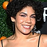 Here she is looking dewy and radiant at the Orange Is the New Black season five celebration in New York City.