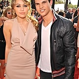 Miley Cyrus and Taylor Lautner