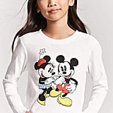 Forever 21 Minnie & Mickey Mouse Top
