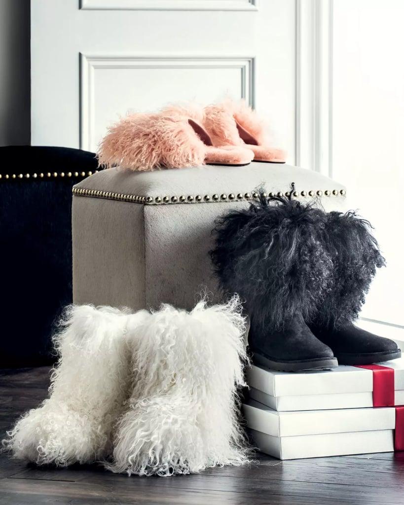 62b42337ff5 UGG Fluff Momma Mongolian Fur Boot | Neiman Marcus Christmas Book ...