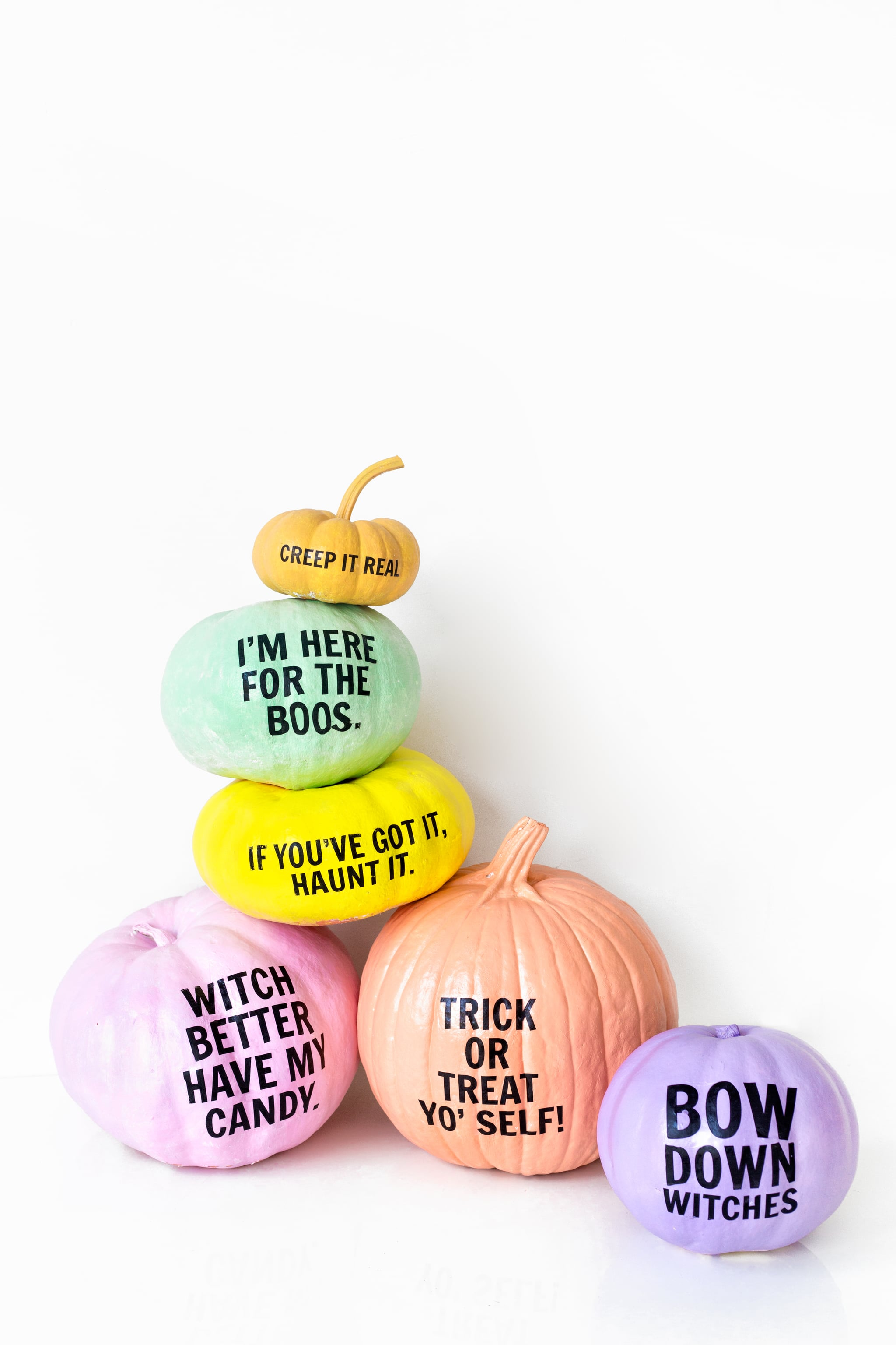 Pumpkins with funny sayings popsugar home for Decor yo pops