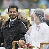 In July 2014, he and Sofia braved the rain at a concert for Crown Princess Victoria's birthday celebration.