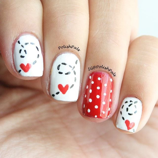 valentines nail art pretty s day nail inspiration from instagram 31578