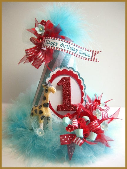 Patricia Minish Design Vintage Carnival First Birthday Hat