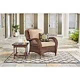 Wicker Outdoor Lounge Chair With Cushions
