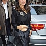 Salma Hayek stepped out for the Balenciaga fashion show.
