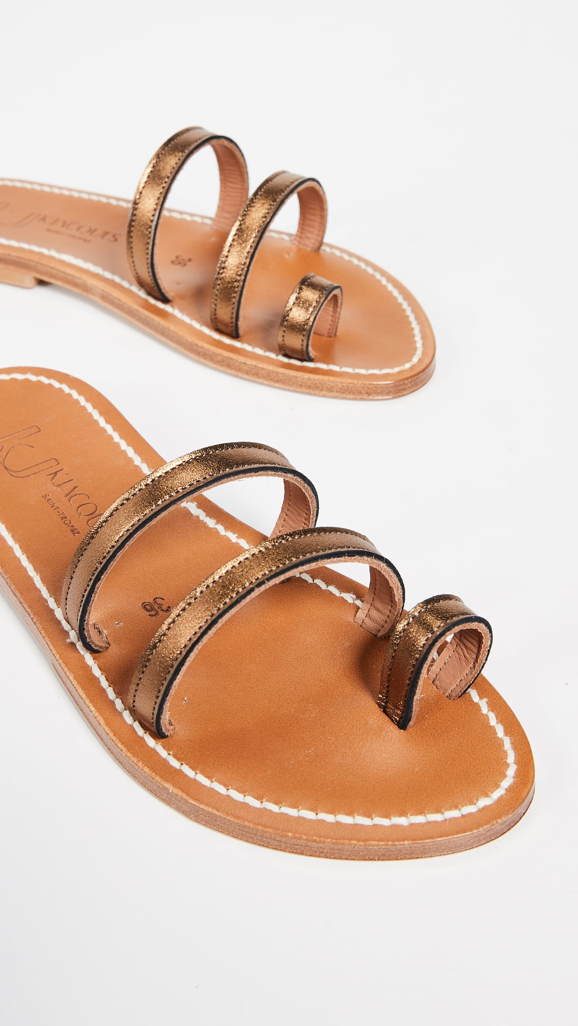 new arrivals 62e11 e8c04 K. Jacques Chiron Toe Ring Slides | If You Haven't Seen ...