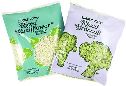 Riced Cauliflower and Riced Broccoli ($2)
