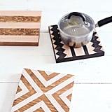 DIY Geometric Wood Trivets