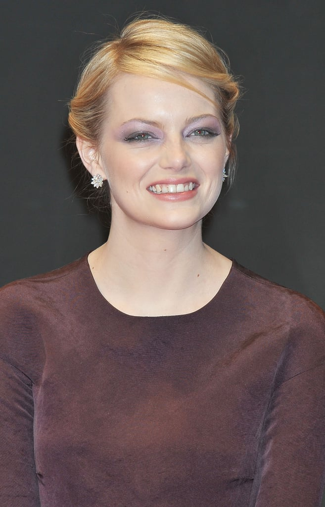 Emma Stone had a smile on her face at The Amazing Spider-Man premiere in Japan.