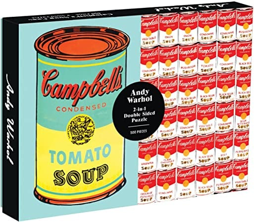 Galison Andy Warhol Soup Can 2-Sided 500 Piece Puzzle