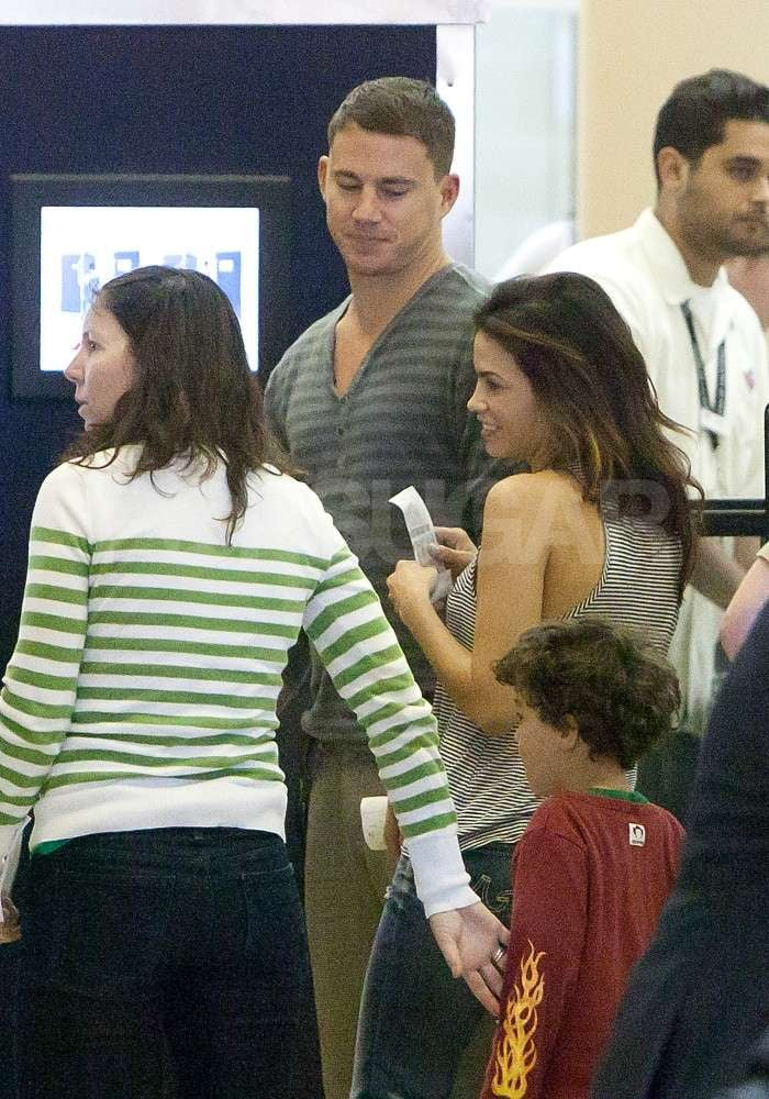 Jenna Dewan and Channing Tatum traveled through security together at the Los Angeles airport.