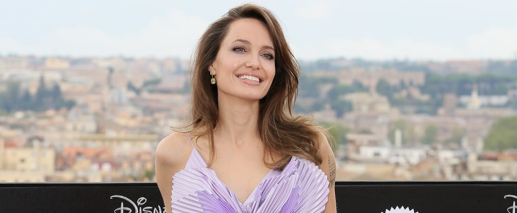 See Angelina Jolie's Purple Butterfly Top