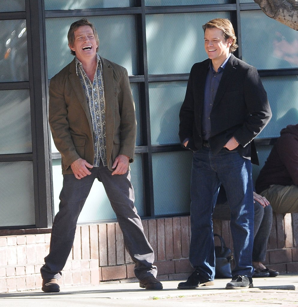 Pictures of Matt Damon with Thomas Haden Church On Set of We Bought A Zoo