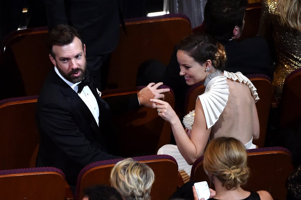 Jason Sudeikis and Olivia Wilde chatted with their seatmates.