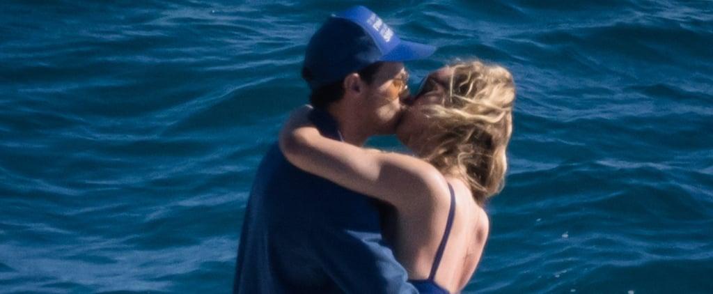 Olivia Wilde Kissing Harry Styles in a Blue Bikini in Italy