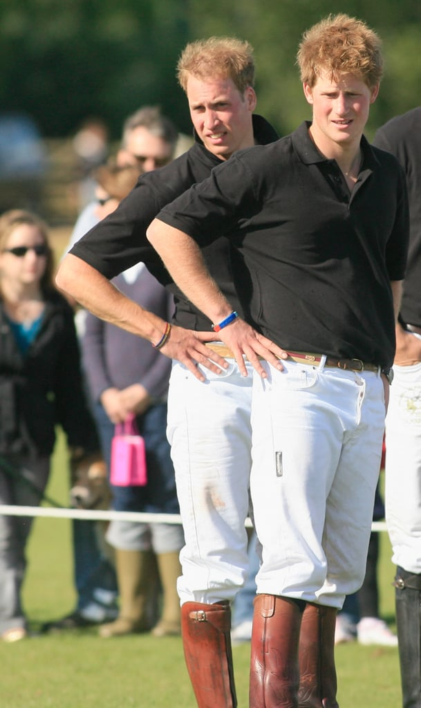 The brothers struck the same pose when they attended a charity polo match in June 2008.