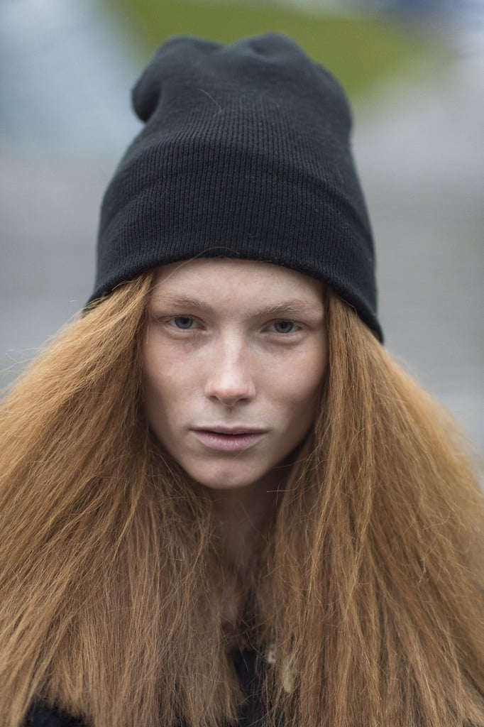 Ilona Swagemakers's red, textured locks are giving us some serious hair envy. Source: Le 21ème | Adam Katz Sinding