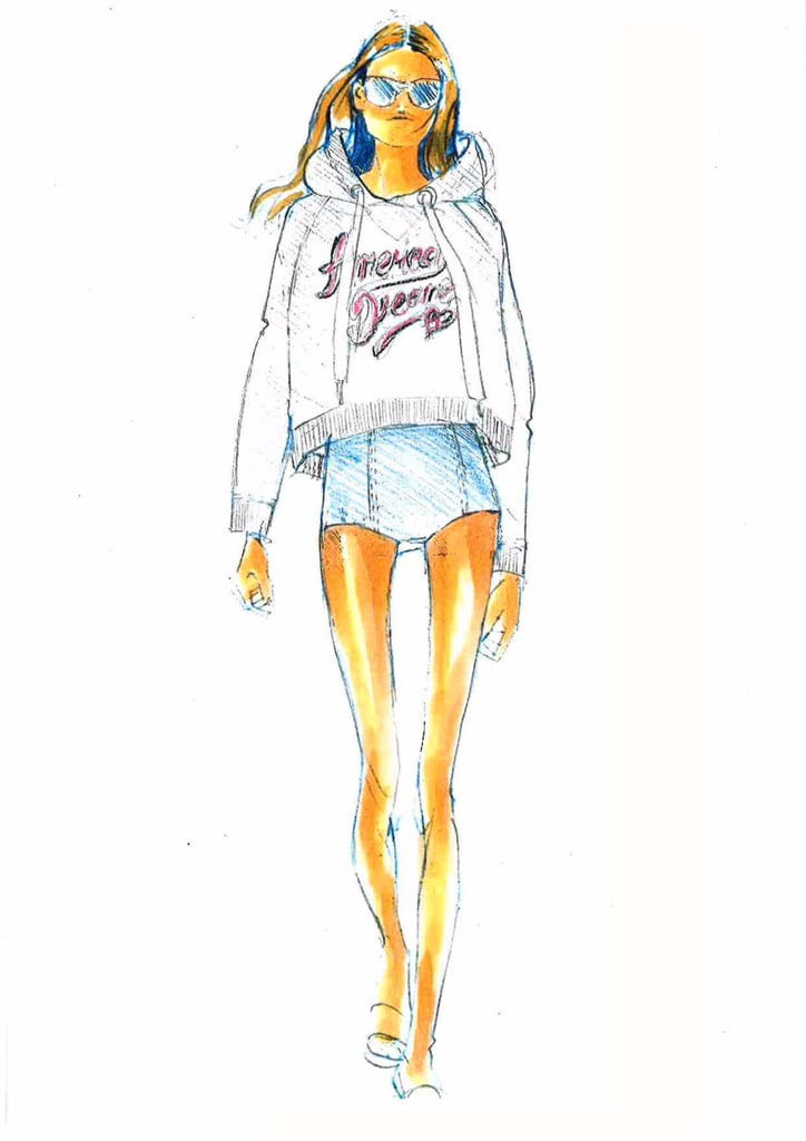 Gigi Hadid x Tommy Hilfiger 2017 Spring Collection Sketches