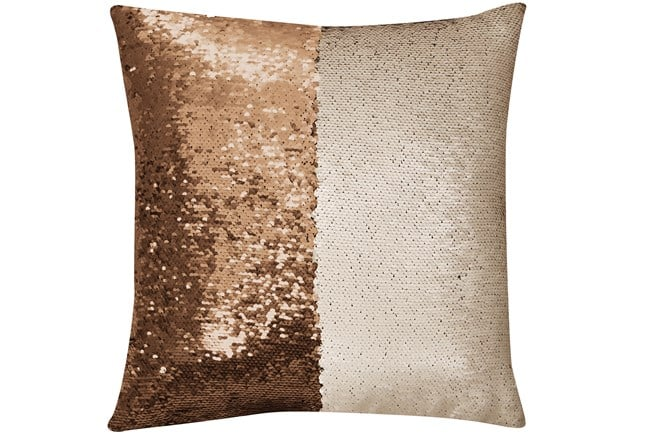 Mermaid Sequin Gold/Ivory Accent Pillow